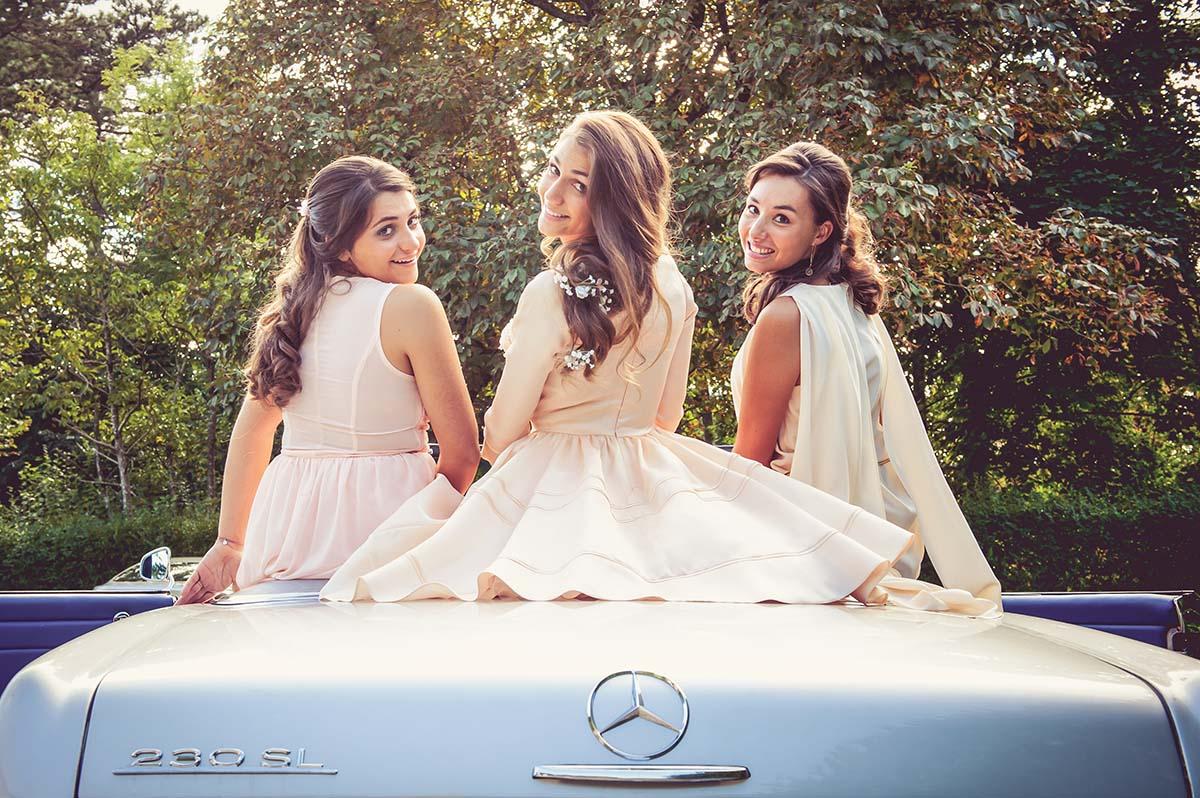 Mercedes et couleurs pastel