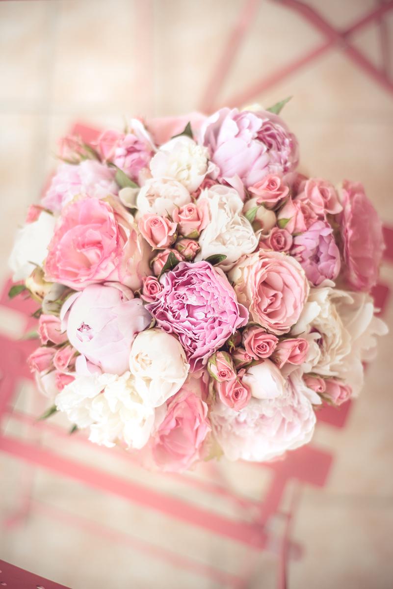 bouquet rose de la mariée